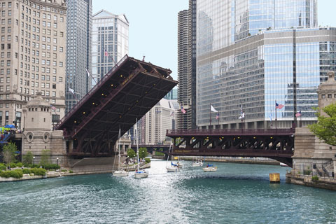 visitar el puente de la Avenida Michigan Chicago